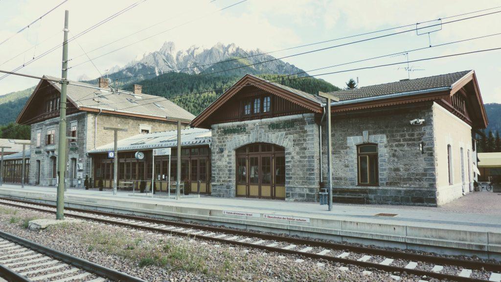 The Dobbiaco railway station